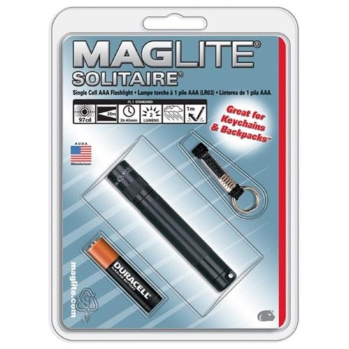 Maglite K3A986 Solitaire AAA Hang Pack, Purple