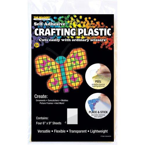 "Crafting Plastic Self-Adhesive Sheets 6""X9"" 6/Pkg-Basic"