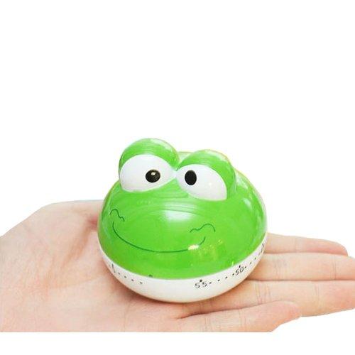 "[GREEN Frog]2.6""Cute Mechanical Movement Kitchen Timer/Reminder-60 Minutes"