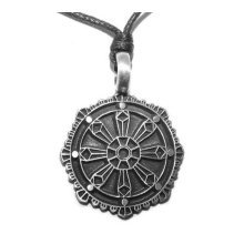 Buddhist Wheel Pendant - Dharma Chakra (Buddhism) Necklace
