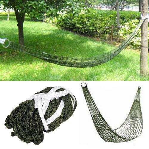 Trixes Survival Camping Hammock for Army Travel Mini Nylon Survival Relax Sleeping Garden