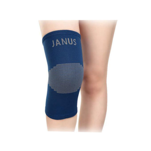 A Pair Double Thick Protective Shin Pad Non-slip Gloves Knee Braces Blue
