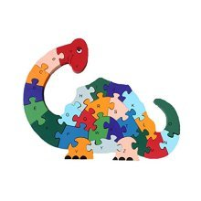 Puzzle Wooden Blocks Toys For Toddlers Childrens Gift Of Ages 2-7(dinosaur) by For_beauty