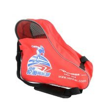Nylon and Net Roller Skate Sack Roller Carry Bag Ice Skate Derdy Tote, Red