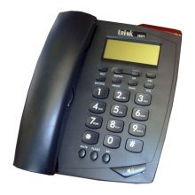 Tel UK Venice Phone Caller ID Telephone - Black (18071B Venice)