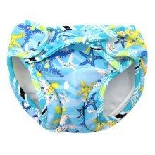 Baby Swim Trunks 0-3 Infants Lovely Swimsuit Leakproof Swim Shorts Blue Starfish