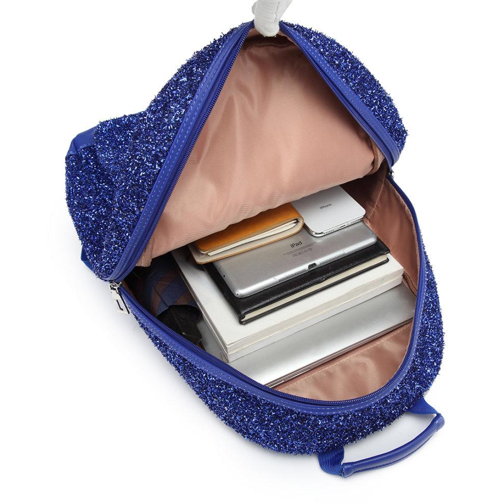 fbf107a4d ... Miss Lulu Women Glitter Backpack Girls School Bag Rucksack - 7 ...