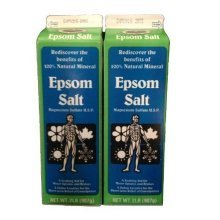 Epsom Salt 2lb Carton (Pack of 2 Cartons)