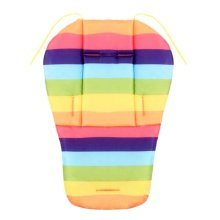 Cool Thicken Baby Strollers Mat Stroller Seat Liners - Rainbow
