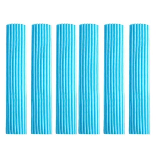 Set of 6 Foldable Sponge Mop Replacement Heads, Good Absorbent [C]