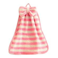 Cute Bowknot Hand Towel For Kitchen&Toilet&Bathroom 35x30cm Pink&White Stripe
