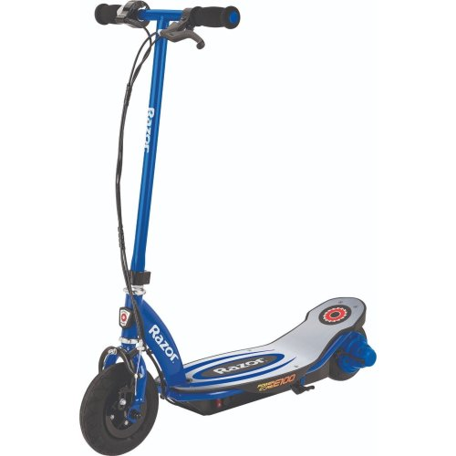 Brand New Razor Kid's E100 Powercore Blue Electric Scooter High Torque Motor