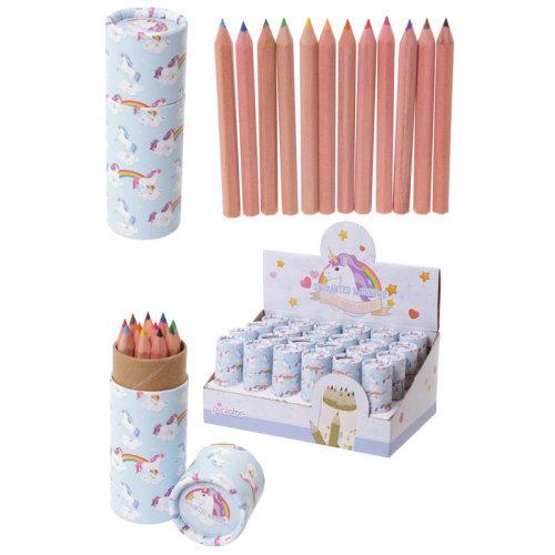 Fun Kids Colouring Pencil Tube - Unicorn Design