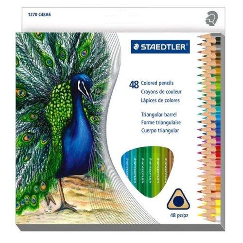Staedtler 1270C48 Triangular Colored Pencils - Set of 48