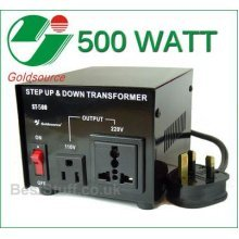 Goldsource 500 Watt Step Down/Up Voltage Converter UK -> US ->UK