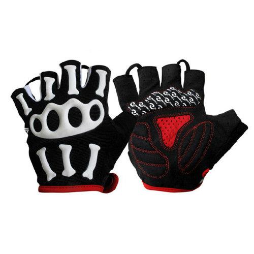 Men & Women Outdoor Sports Gloves Half-finger Fingerless Cycling Gloves Black