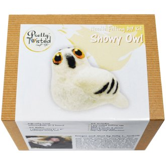 Pretty Twisted Kelly L. Corbett Needle Felting Diy Kit-Snowy Owl