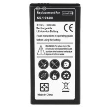 Battery for Samsung Galaxy S5 6500 mAh Replacement Battery + Housing - White