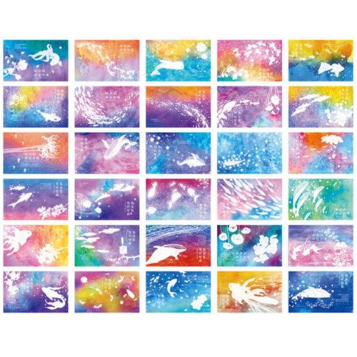 30 PCS 1 Set Beautiful Luminous Greeting Postcards Blessing Cards, No.5