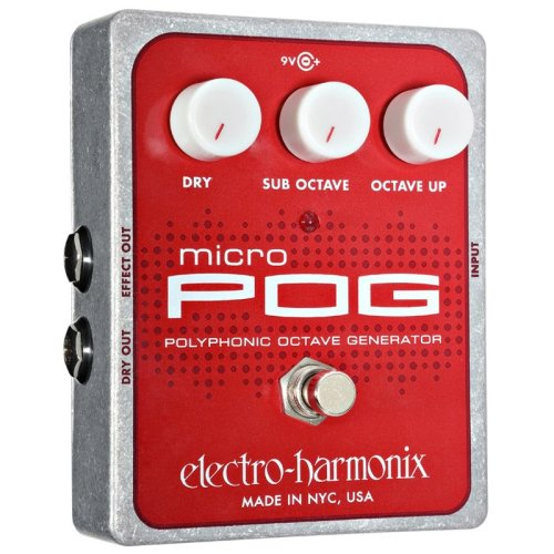 Electro Harmonix Micro POG Octave Guitar Effects Pedal