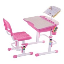 ChaCha Pink Height-Adjustable Kids' Desk, Bookstand & Chair Set