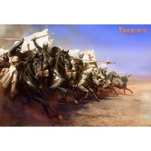 Templar Knights Cavalry - 28mm multipart figures - FireForge FFG002 Free post P3