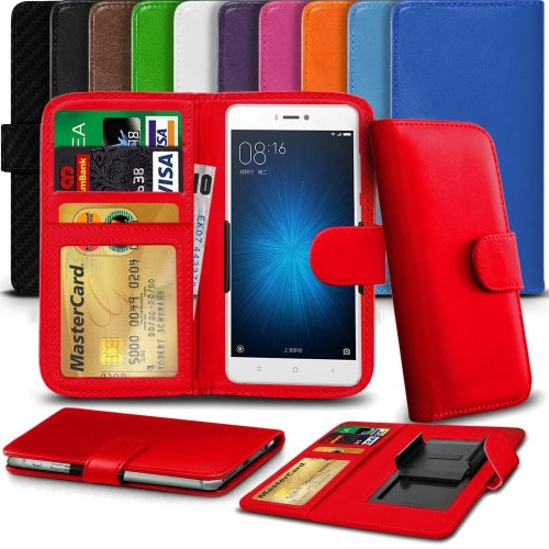 """iTronixs - BLU Vivo XL 2 (5.5"""") High Quality Clamp Style PU Leather Wallet Case Cover"""