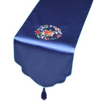 Chinese Embroidery Rural Table Runner Bed Runner Tablecloth Bed Flag, M