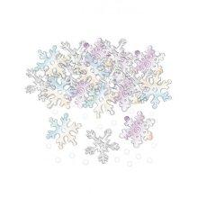 Iridescent Snowflake Embossed Mix confetti    - 14g -