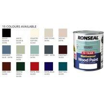 Ronseal Weatherproof No Primer Exterior Wood Paint 750ml