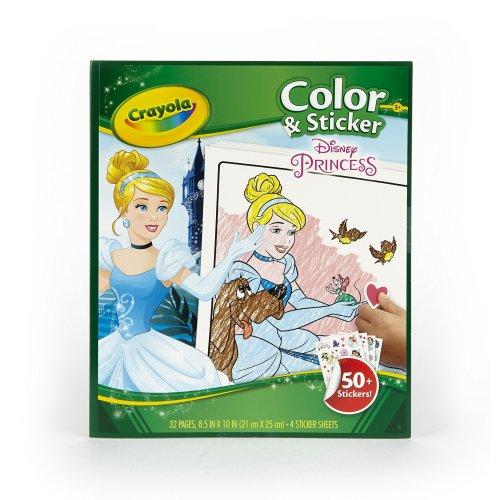 Crayola-Disney Disney Princess Colour and Sticker Book - Multicoloured