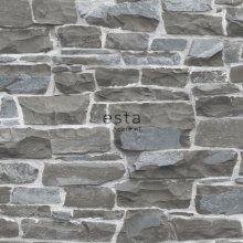 HD non-woven wallpaper brick wall dark gray