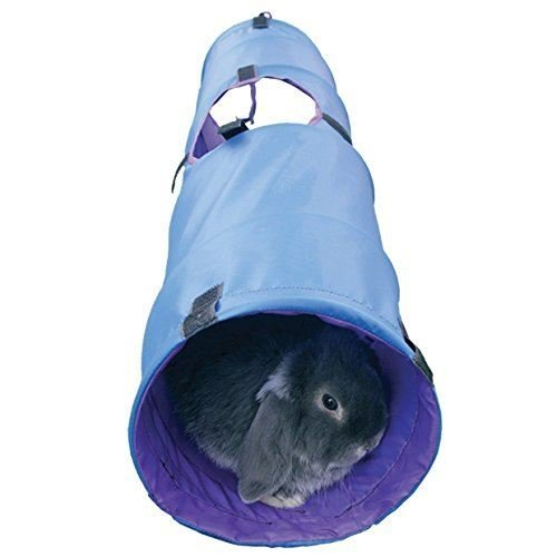 Rosewood Rabbit Activity Tunnel - Blue or Grey | Rabbit Pop-Up Tunnel