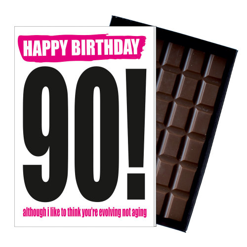 Funny 90th Birthday Gift Rude Naughty Present for Him or Her 85g Chocolate Card on OnBuy