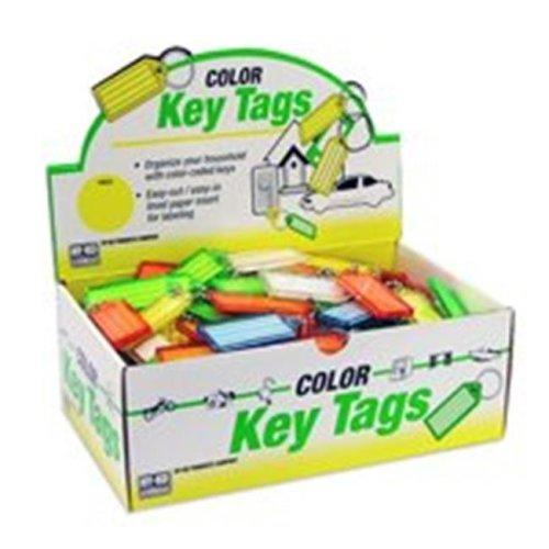 Hy-Ko Products KB140-100 Keytag With Beaded Chain 100 Pack
