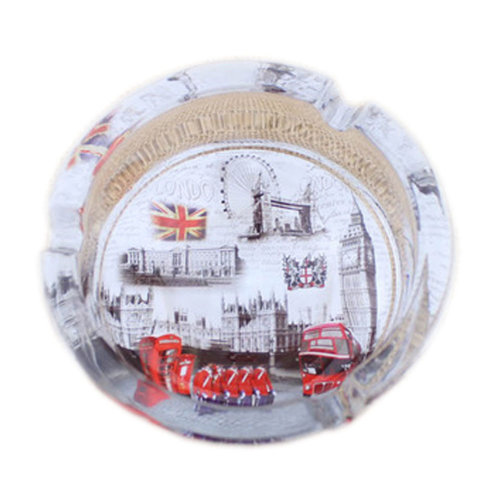 Creative Gifts Men's British Style Crystal Glass Ashtray [London Scenery A]