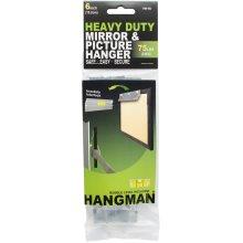 """Heavy Duty Hangman Mirror & Picture Hanger W/Walldogs 6""""-75lbs"""