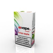 88 Vape E-Liquid Nicotine 16mg Crisp Apple 10ML