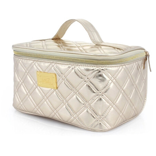 Women's Makeup Pouches Classic Rectangle handbag Travel Cosmetic Bag Gold
