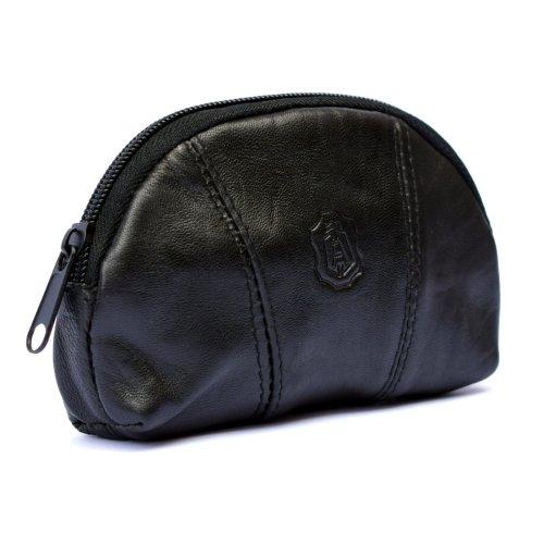 Mens Ladies Soft GENUINE Leather Coin Purse Zip Around Credit Cards