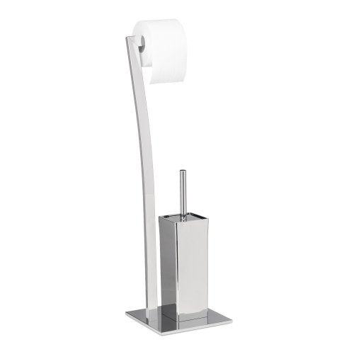 9d8957e57783 Relaxdays WIMEDO Toilet Brush and Holder, Size: 71 x 20 x 20 cm Toilet  Paper Holder in Stainless Steel, Free-Standing, Silver on OnBuy