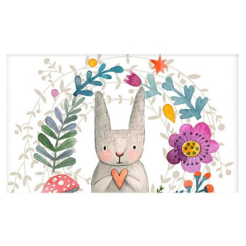 Home Creative 50-Inch TV Cloth Decorative Dustproof Cover, Rabbit And Flowers