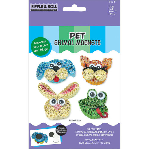 Quilled Creations Quilling Magnet Kit-Pet