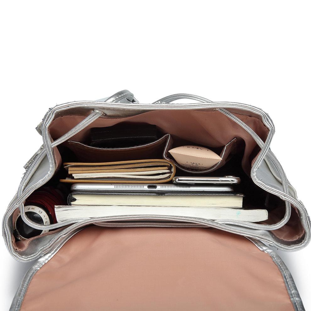 f556f71b4 ... Miss Lulu Women Glitter Backpack Girls School Bag Fashion Rucksack - 7  ...