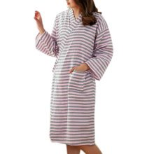 Japanese Style Women Thin Cotton Bathrobe Pajamas Kimono Skirt Gown-A07