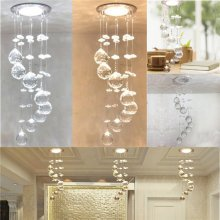 3W LED Crystal Ceiling Light Small Chandelier Ceiling Lamp Pendant Light Hallway Home Decor
