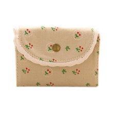 Floral Credit Card Case Bag Holder with 20 Card Slot, Light Gray