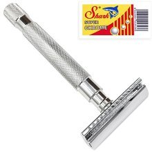 Parker 64S Stainless Steel Handle Double Edge Safety Razor with Closed Comb Head &amp 5 Blades