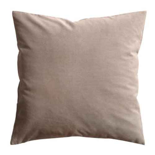"17.7""x17.7"" Premium Solid Color Throw Pillow Soft Pillow Cushion, Camel"