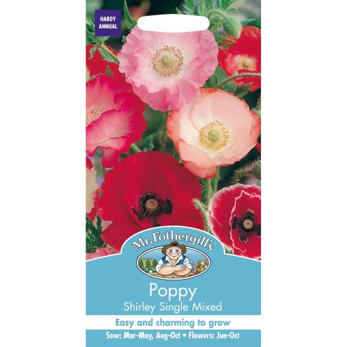 Mr Fothergills - Pictorial Packet - Flower - Poppy Shirley Single Mixed - 1500 Seeds